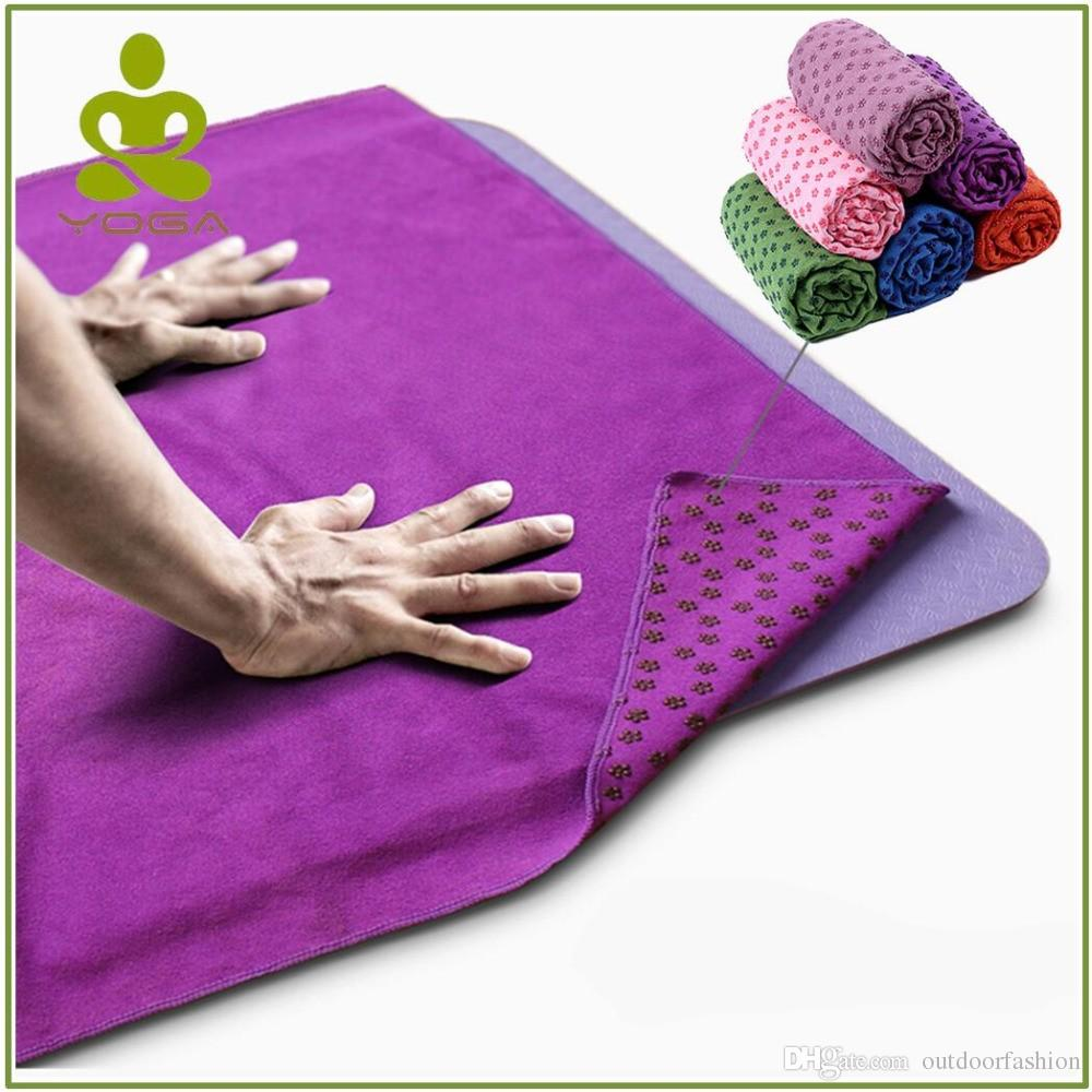 Shoes High Quality Towel Yoga Mat With Bag Non Slip Cover Gym Towel Blanket Workout Sport Fitness Exercise Pilates Anti Skid Free Bag Customers First