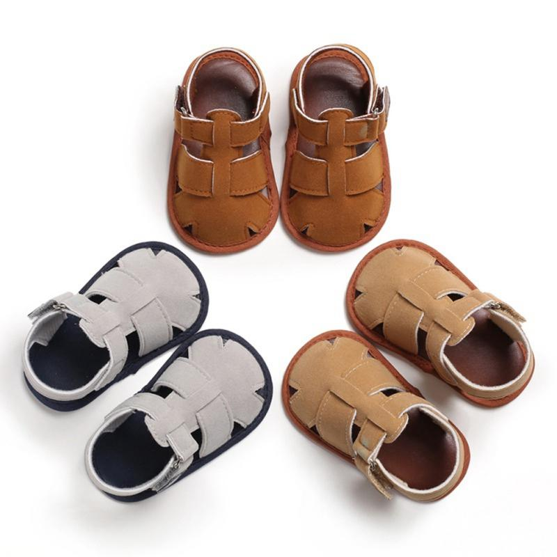 Summer Soft Soled Shoes Cute Baby Boy Garden Sandals Hollow Breathable Anti-Slip Hollow Design Shoes Sandals