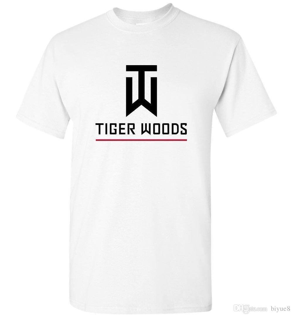 9dda819b42f1 Tiger Woods T Shirt American Golfer Legend Logo New Men T Shirt Size S 3XL  2018 Short Sleeve Cotton T Shirts Man Clothing Funny Slogan T Shirts Cool  Shirt ...