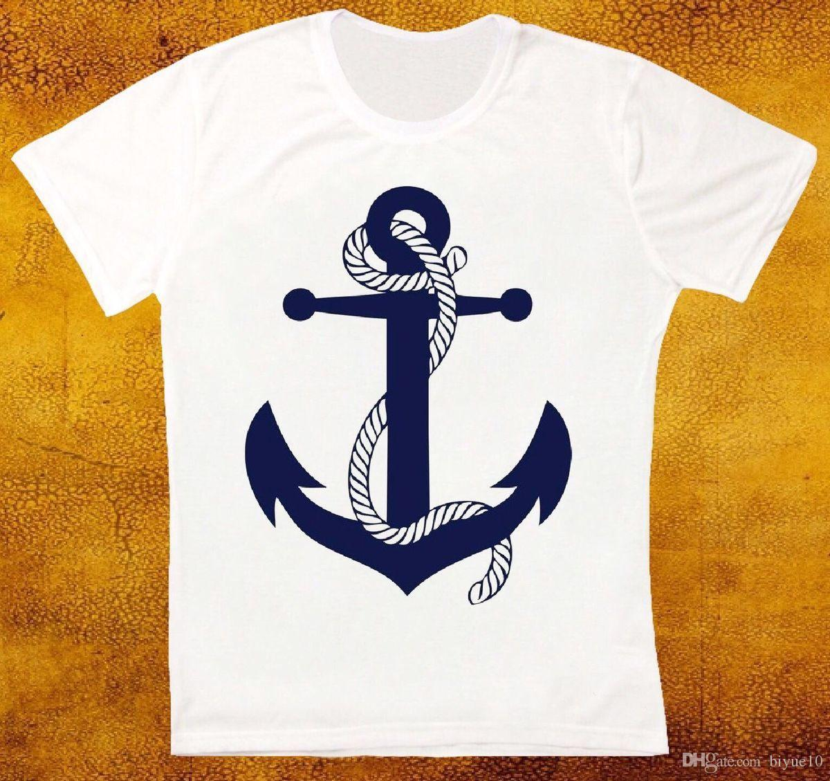 4c56d37d NAVY SAILOR ANCHOR RETRO VINTAGE HIPSTER UNISEX T SHIRT Casual Plus Size T  Shirts Hip Hop Style Tops Tee S 3Xl Plus Size Go T Shirts Really Funny  Shirts ...