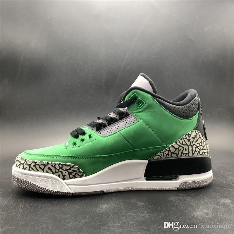 86add874b71a 2019 Cheap Mens 3s Basketball Shoes Retro Aj3 Oregon Ducks Green Mocha  White Wolf Grey Black Cement J3 Kids Jumpman III Sneakers Tennis With Box  From ...