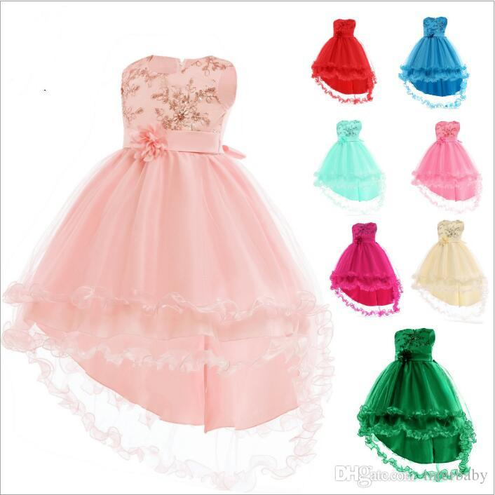 e16f75f427cf 2019 Kids Clothes Bridesmaid Pageant Dress Wedding Ball Gown Princess  Dresses Big Girl Summer Formal Party Dresses Dance Tutu Dress Costume B4609  From ...