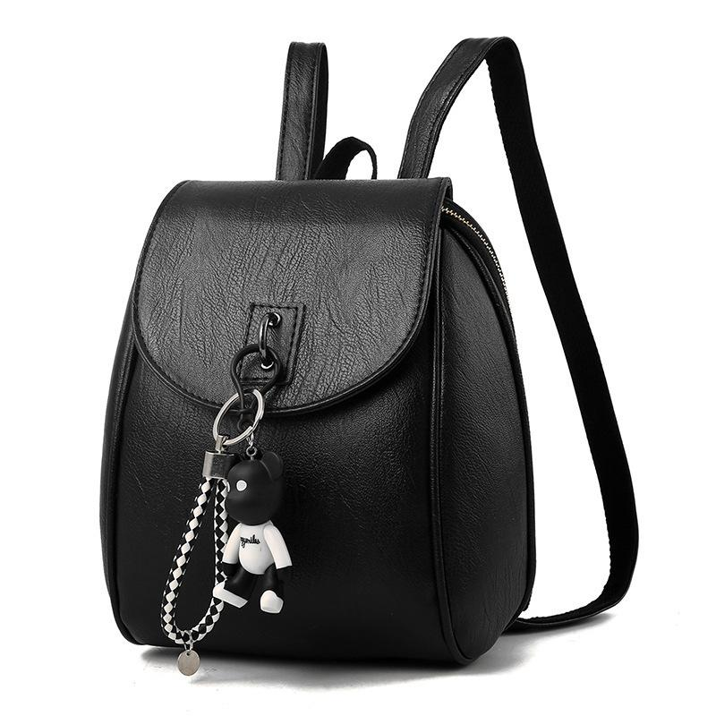 Small Women Backpacks Small Bear Pendant Pu Leather Student Backpack Preppy  Style Backpack Girls Women S Back Pack 448 Osprey Backpack Tool Backpack  From ... b26ace9837205