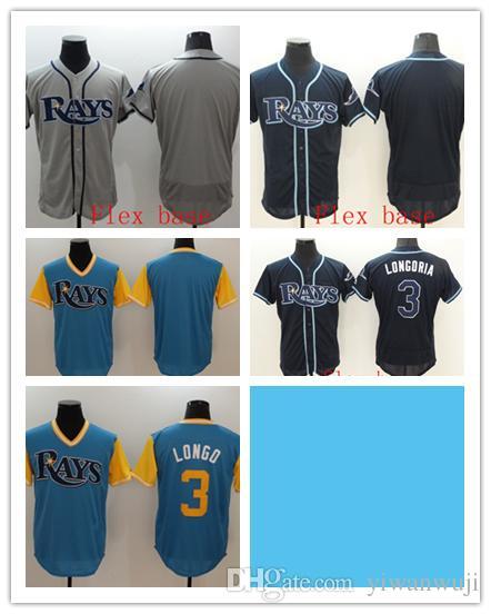 b4680f5bb 2019 Wholesale Blank #3 LONGORIA Rays 2019 Blue Baseball Flex ...