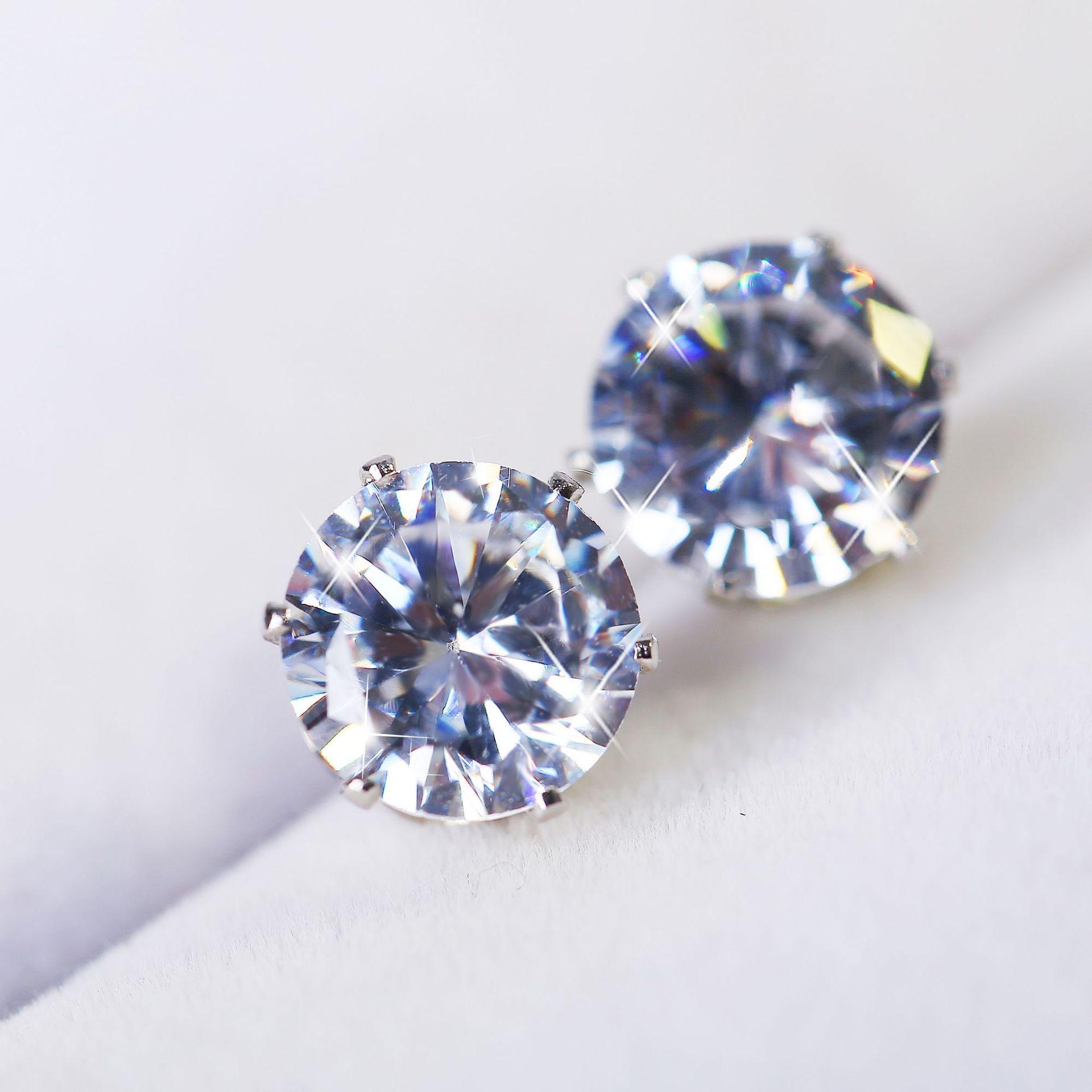 6ec86dc00163 Compre Pendientes De Diamantes Con Aros Redondos