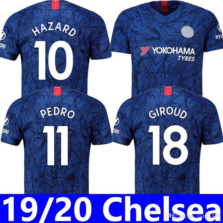 19 20 The Blues Home JORGINHO Blue is the Colour soccer jersey 2019 2020  PEDRO RUDIGER football shirt