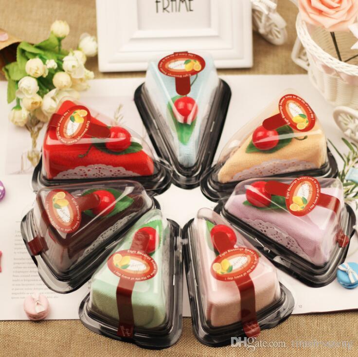 7 Farben kreatives Kuchentuch für Kinder Weihnachtsgeburtstagsgeschenke Babyparty Valentinstag Hochzeitsgeschenk für Gastparty bevorzugt freies Schiff