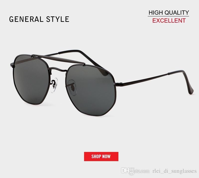 80376a158 Compre 2019 Top New 3648 Óculos De Sol Hexagonal Mulheres Homens Uv400  Lente De Vidro Flash Espelho Preto Redondo Desinger Óculos De Sol Oculos De  Sol Gafas ...