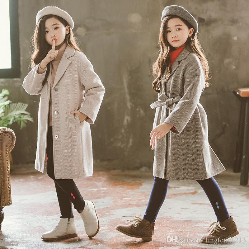 d854a8d5431b Girls Coat Winter Korean Version of Children s Woolen Coat in the ...