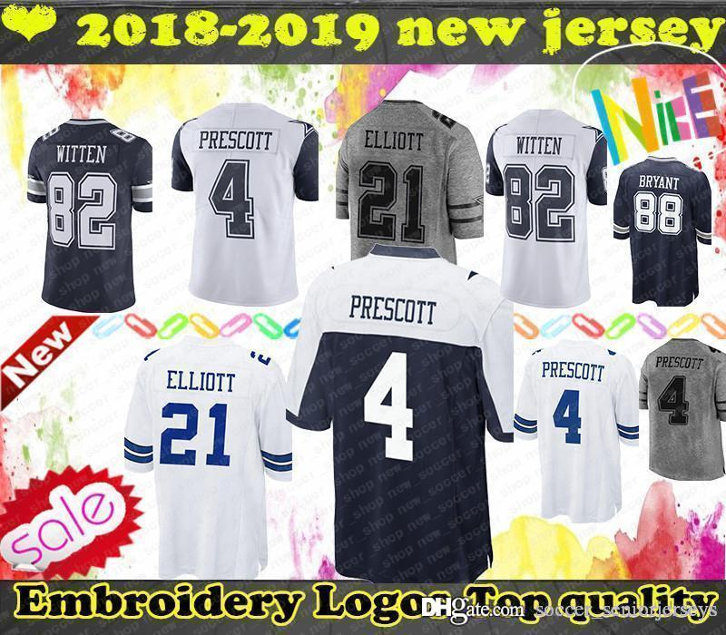 hot sale online 27431 fb8ee Dallas Ezekiel 21 Elliott Jersey Cowboys 90 Lawrence 55 Vander Esch 4  Prescott 82 Witte 19 Cooper 50 Lee Bryant Smith Mens Jerseys