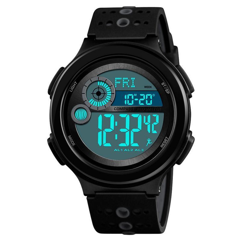 978607f0361d Celulares Inteligentes Reloj Deportivo Digital De Múltiples Funciones Reloj  De Pulsera Electrónico Con Alarma Cronómetro Luz De Fondo Calendario Fecha  Para ...