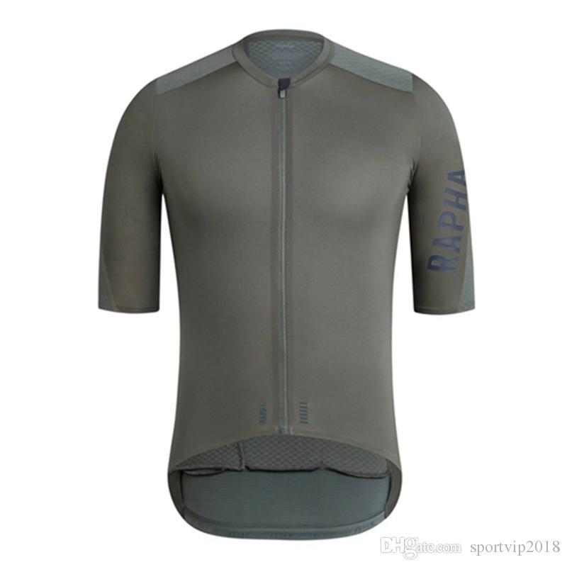 RAPHA 2019 Cycling Jersey Estate corsa Tops Vestiti di riciclaggio Ropa Ciclismo Breve manica corta Dry Camicia mtb bici Jersey K072704