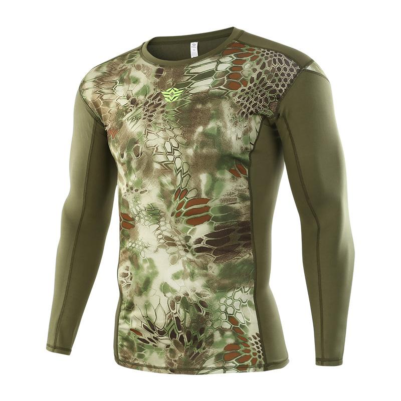 e45366044 2018 Men T-shirts Tactical Camouflage Army Long Sleeve Python Camo ...