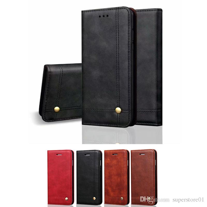 super popular da45f ecd84 XS Max 7/8 Phone Wallet Cases Classic Business Mens Mobile Protect Covers  Card Holder Fashion Cellphone Accessories New