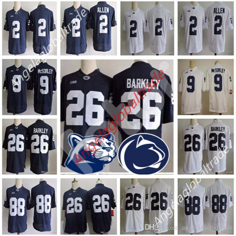 lowest price 83d78 d9006 Men's Penn State Nittany Lions jerseys 26 Saquon Barkley 2 Marcus Allen 88  Mike Gesicki 9 Trace McSorley Stitched NCAA College Jersey