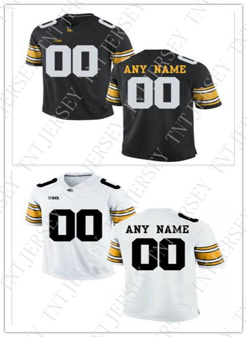 timeless design e7d2b ac332 Cheap custom Iowa Hawkeyes Men s College football jersey Customized Jersey  Any name number Stitched Jersey wholesale XS-5XL