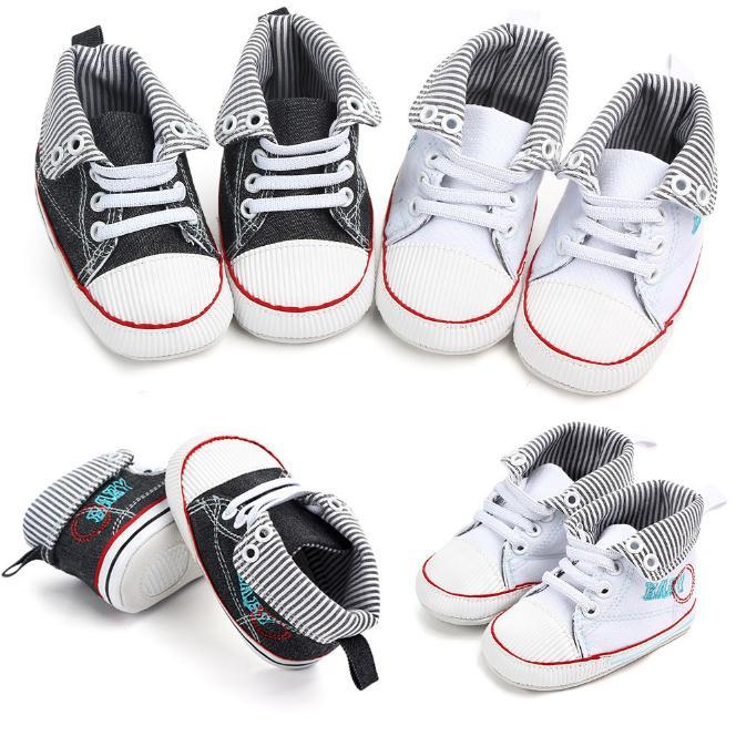 Baby Shoes Boys Girls Toddler Canvas Kids Footwear Casual Sneakers Crib Babe First Walkers 0-1T