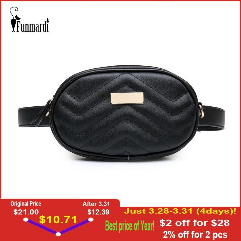 6d45a746c4a designer FUNMARDI PU Leather Female New Fashion Waist Packs Trendy Women  Fanny Pack Brand Belt Bag Female Shoulder