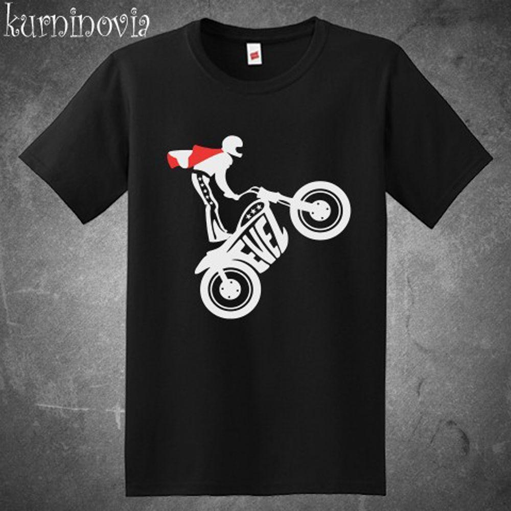 New Evel Knievel Evel One Stunt Performer Men'S Black Shirt Usa Size S-3XL Af1