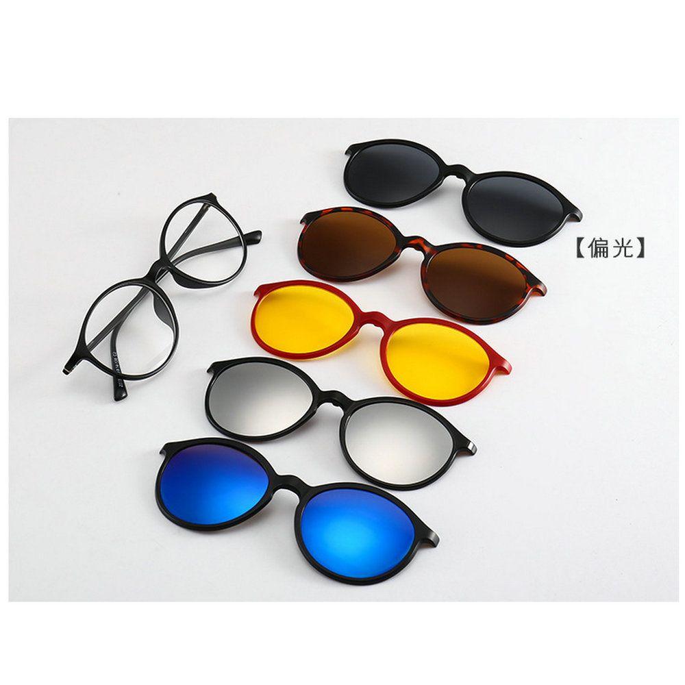 Купить Оптом 5 + 1 Костюм Мода Клип На Солнцезащитные Очки Женщины Кадры  Клипы Магнитные Очки Магнит Очки Мужчины Поляризованные Клип Очки NX  Отtaihangshan ... 5a4a0294847