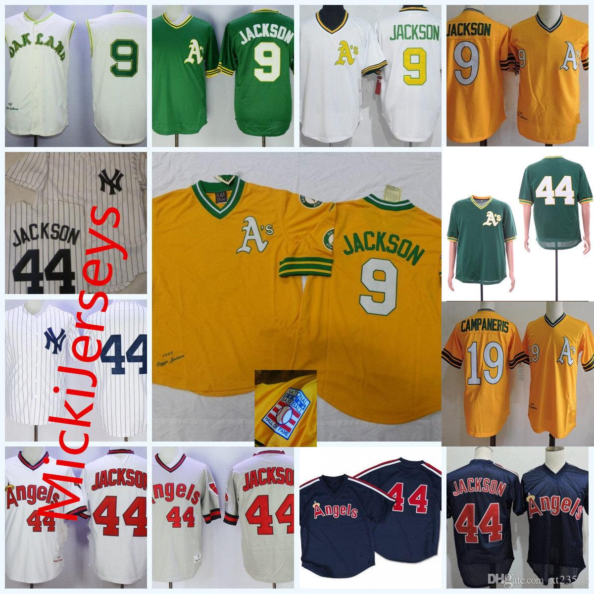 0579c3578 Cheap Mens AS1968 #9 Reggie Jackson #19 Bert Campaneris Jersey Stiched  Orange White Navy #44 Reggie Jackson California Jersey S-3XL