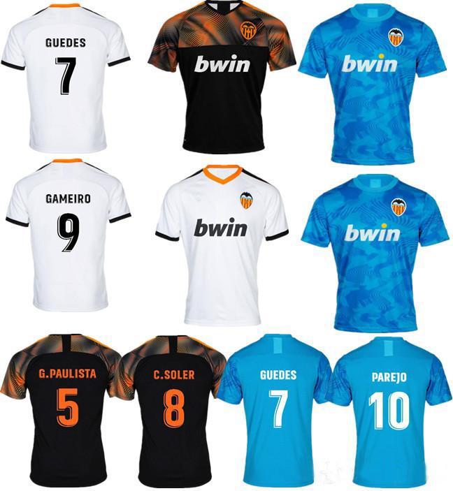 size 40 9d502 a8ca4 Jerseys Thailand Valencia CF soccer jersey 2020 parejo maillot de foot  S.MINA rodrigo football shirt 19-20 C.SOLER camiseta de fútbol kits