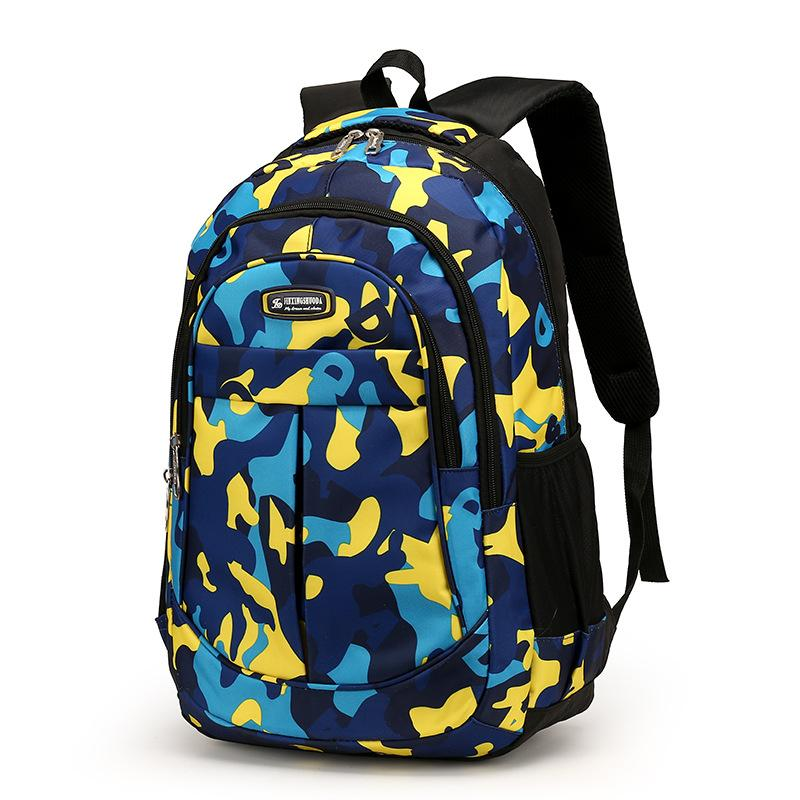 Fashion School Bags For Kids Camouflage Orthopedic