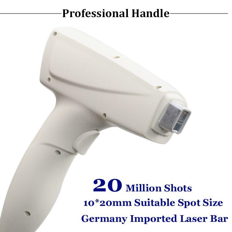 Clínica utilizar 808 diodo láser de la máquina 808nm profesionales del pelo eliminación del dispositivo 20 millones de vacunas anti pelos del diodo láser de la máquina