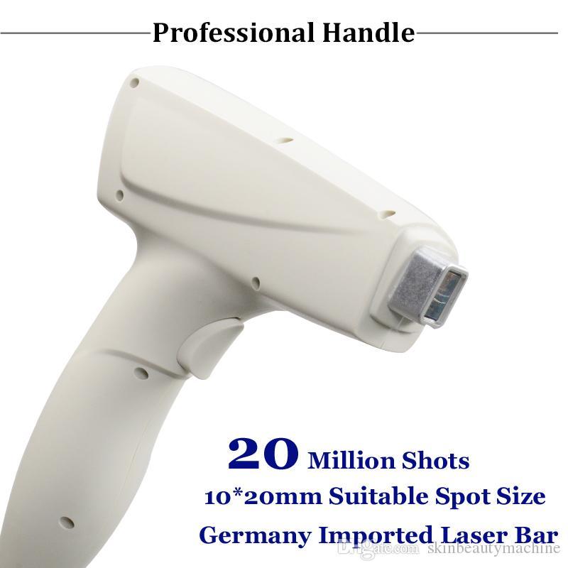 Klinik 808 Diyot Lazer Makinesi 808nm Profesyonel Epilasyon Cihazı 20 Milyon Shots Lazer Diyot Karşıtı Kıllar Makinası kullanmak