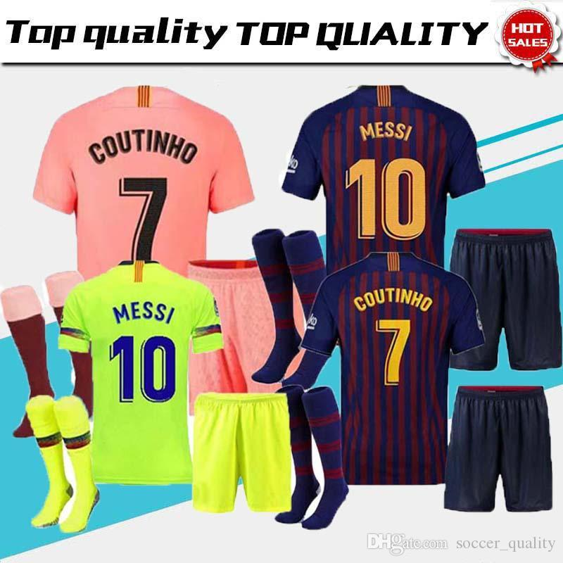 5fd83bb42 MSEEI Barcelona 2018 MESSI SUAREZ Man Jersey Soccer 2019 Camisas ...