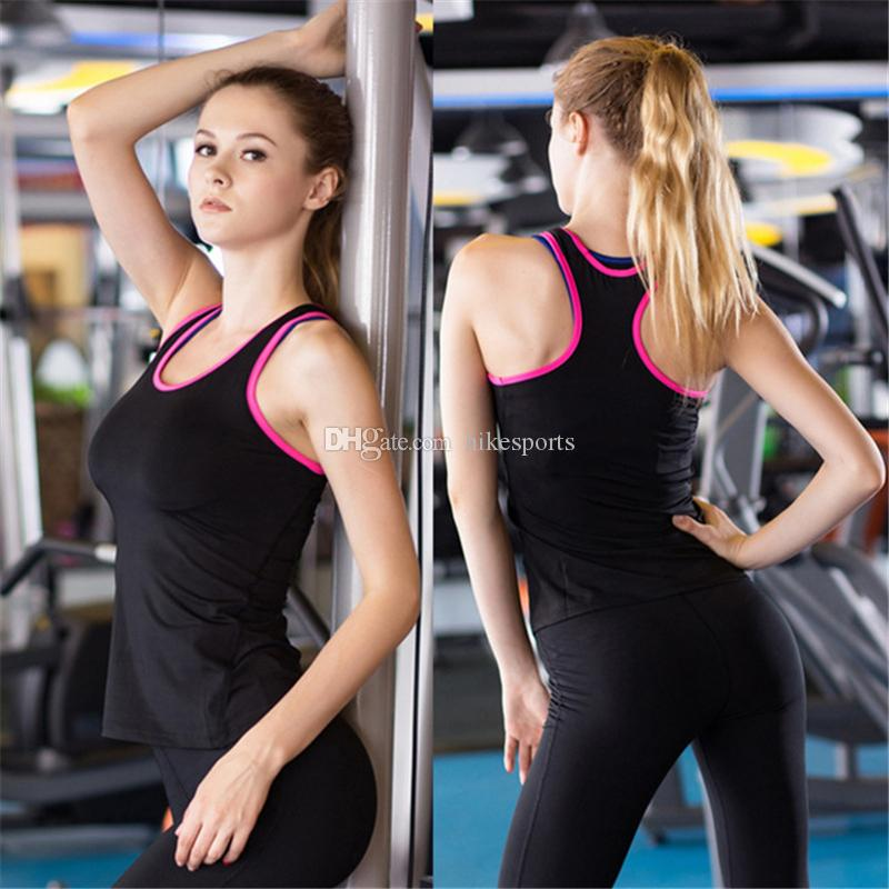 aed34df7d1874 2019 Sexy Womens Sport Vests Yoga Sleeveless Elastic Sports Shirts Gym  Fitness Running Tank Tops Exercise Workout Tights Top Quick Dry Sweatshirt  From ...