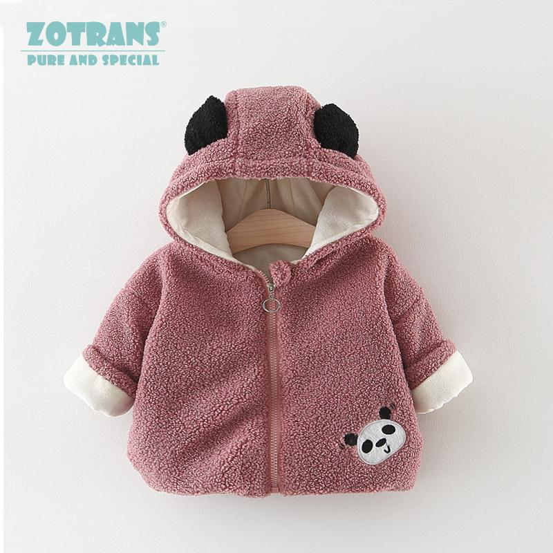45197affc Newborn Baby Girl Coat Cute Hooded Outerwear Winter Cartoon Fleece ...