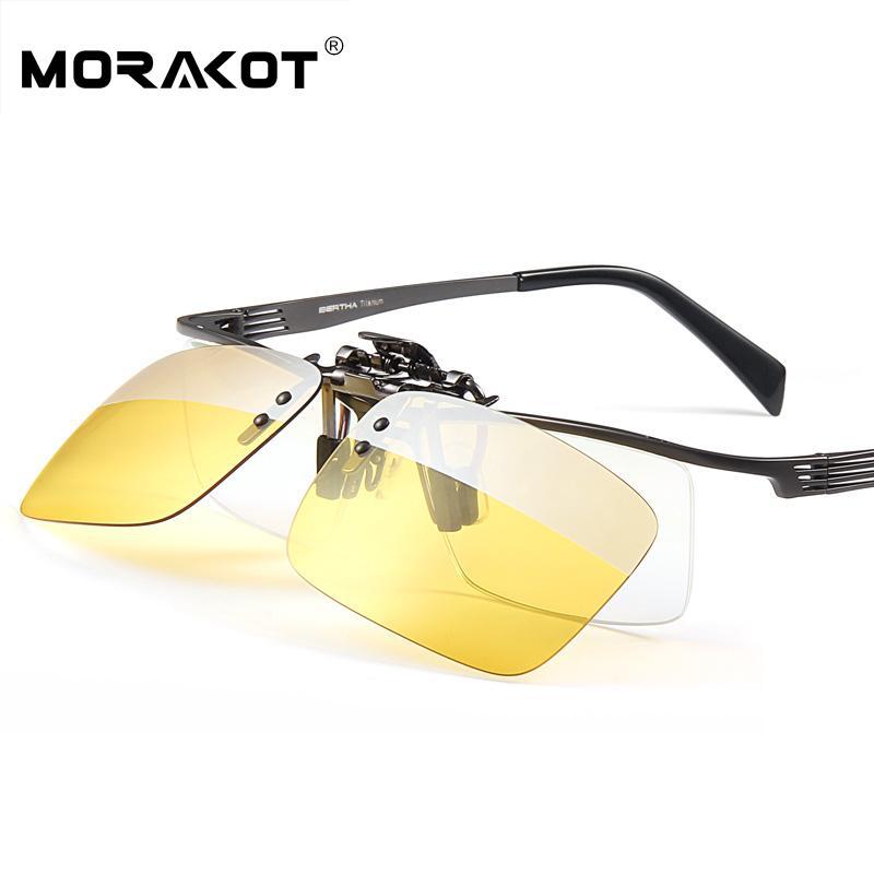 ca08600578 Compre Clip Para Gafas De Día Y Noche Morakot En Anteojos Anti UVA Anti UVB  Ultra Light Gafas De Sol Polarizadas Para Conducir Clip JP01010 A $88.42  Del ...