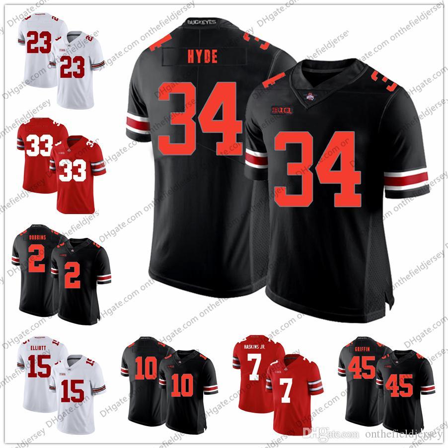 sports shoes 56532 ca781 Ohio State Buckeyes College Football Jersey #34 Carlos Hyde 33 Master  Teague III 26 Jaelen Gill 23 Jahsen Wint 10 Amir Riep S-3XL