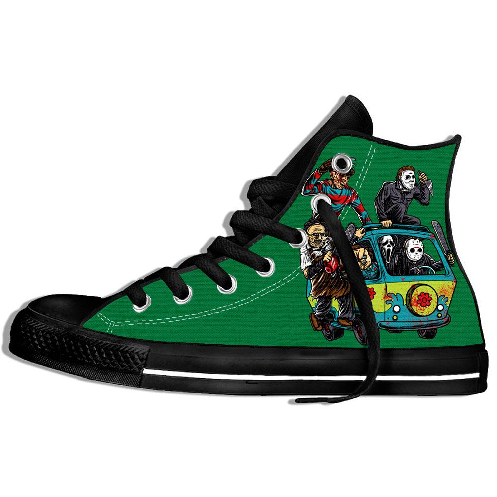 Men's/women's Sneakers Maniac Park Horror Movie Theme Park Jason Clown Saw Halloween Funny Casual Shoes
