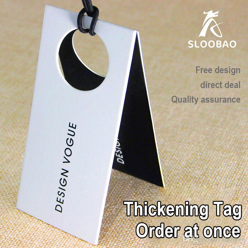 8c89e2239bea0 2019 Customized Mini Order Customized Labels Coated Paper 300g Custom  Printing Hangtags For Hat Clothing Hangtag Single Piece From Sloobao