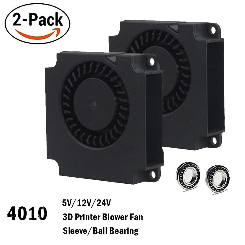 cooling 2PCS Gdstime 40mm 3D Printer 12 24V 5V 4010 Printer Cooling Accessories DC Turbo Blower Fan