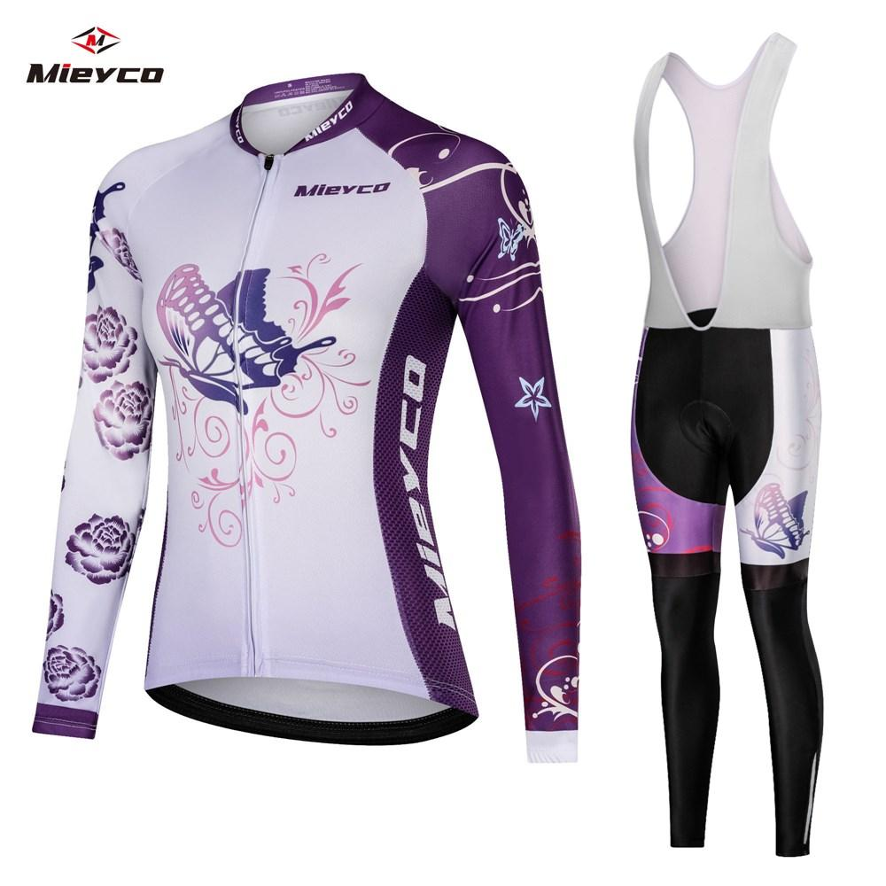Women's Road Bike Clothing Sets 2020 Female Cycling Jersey Gel Pad Bib Pants Kits Wear Bicycle Clothes Suits Mtb Maillot Outfits Racing Suit