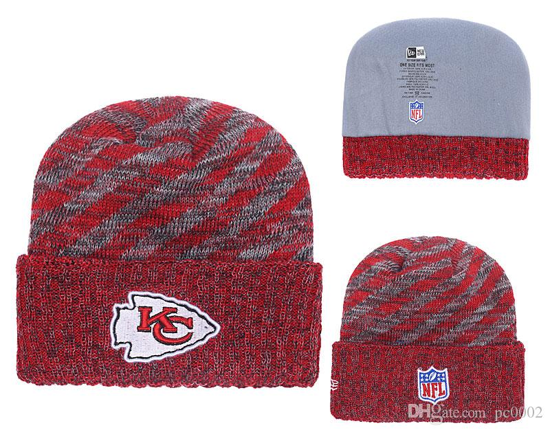 76f356edbed950 Men's Kansas City Chiefs New Red 2018 Sideline Cold Weather Black Official  Sport Knit Hat 01
