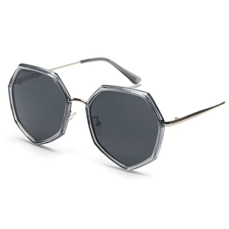 8e8db96d479 2018 New Fashion Polygon Sunglasses Women Men Brand Designer Vintage Clear  Sun Glasses Sexy Men Punk Eyewear UV400 With Box FML Sunglasses Case  Knockaround ...