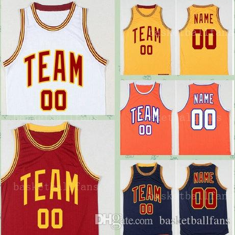 721ad31fbe3 2019 Fully Custom Basketball Jersey Stitched Any Team Personalized Your  Company School Any Number Name Yellow Red White Black Orange Round Neck  From ...