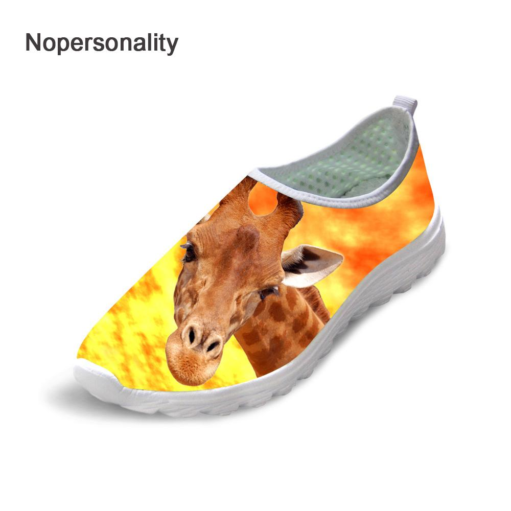3fa10017a174 Wholesale Printing 3d Animal Mesh Loafers for Women Cute Giraffe Cat ...