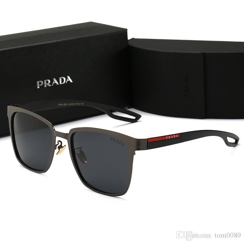 5de50d16b Compre Homens De Alta Qualidade Óculos Polarizados Homens Quadrado Banhado  A Ouro Material Anti Uv400 Óculos De Sol Oculos De Sol Masculino Mens Box  P0120 ...