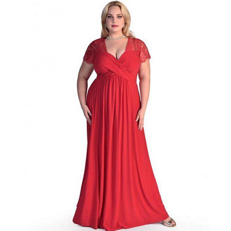 Women Maxi Dresses Elegant Black New Plus Size 6XL Loose Lace Party Travel  Vintage Red Female Fashion Blue Retro Long Dress