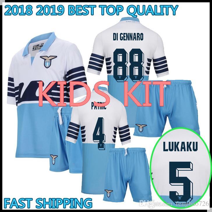 d33d51faba4 KIDS KIT 2018 2019 Lazio Soccer Jersey LUCAS F.ANDERSON IMMOBILE ...