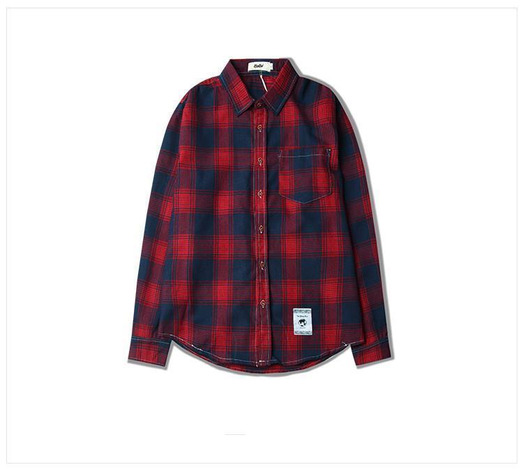 f6e7fc29f Men S Long Sleeved Shirts Pure Cotton Casual Plaid Shirt Men Shirts Slim  Stylish New Fashion M~XXL Offensive T Shirt T Shirt Slogan From  Mandystoress