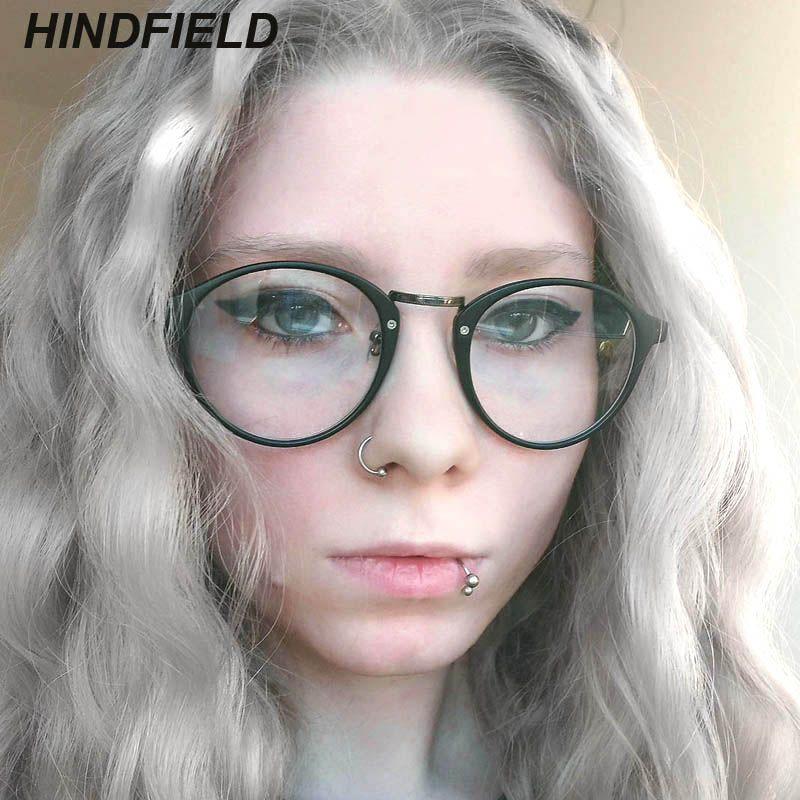11af4e463 Compre Na Moda Óculos Claros Mulheres 2019 New Vintage Óculos Armações De Óculos  Óculos Falsos Retro Nerd Rodada Transparente Oculos De Nectarine99, ...