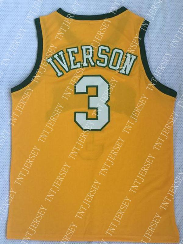 new concept 9556f a727e Cheap wholesale Allen Iverson Jersey The Answer 3 Bethel High School Sew  Customize any name number MEN WOMEN YOUTH basketball jersey