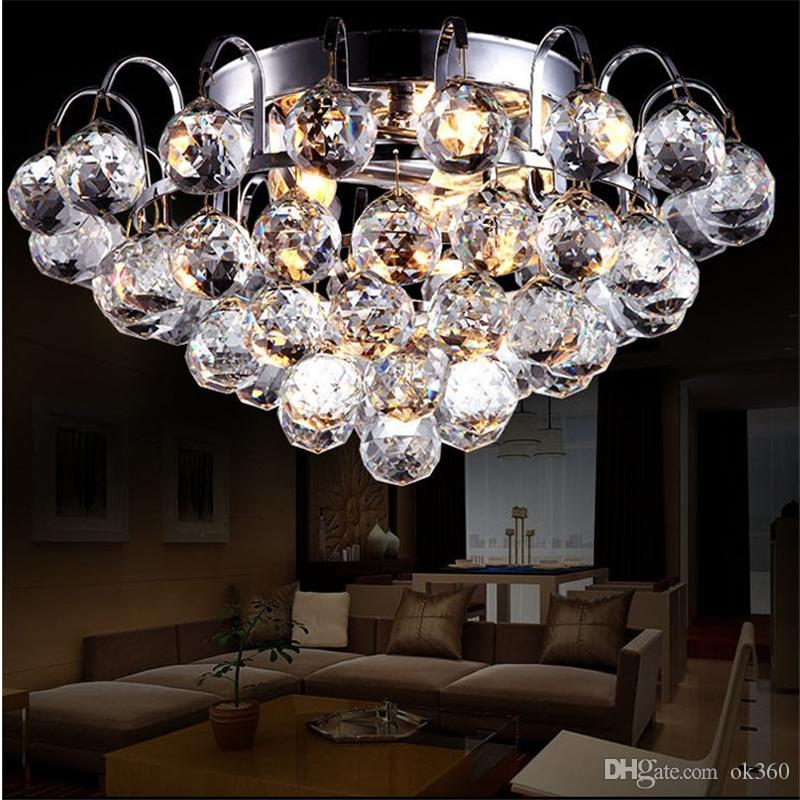 Hearty Creative Led Crystal Ceiling Lamp For Corridor Living Room Bedroom Crystal Downlight Led Spotlight Modern Style Lighting Fixture Lights & Lighting Ceiling Lights
