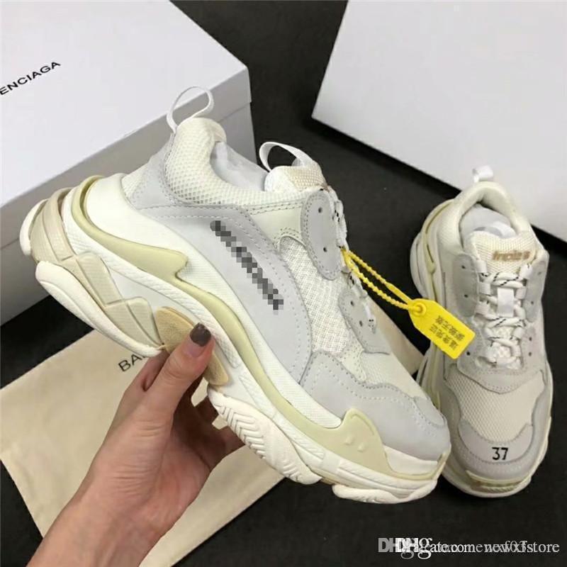 brand new df032 4456f New Rare NO.1Balenciaga Triple S Scarpe Uomo Donna Unisex dal Trainer  Sneaker With Box